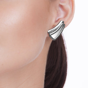 BEAM EARRING - MIRROR - RODIO NEGRO