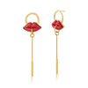 KISS EARRING - RED - KISS ME