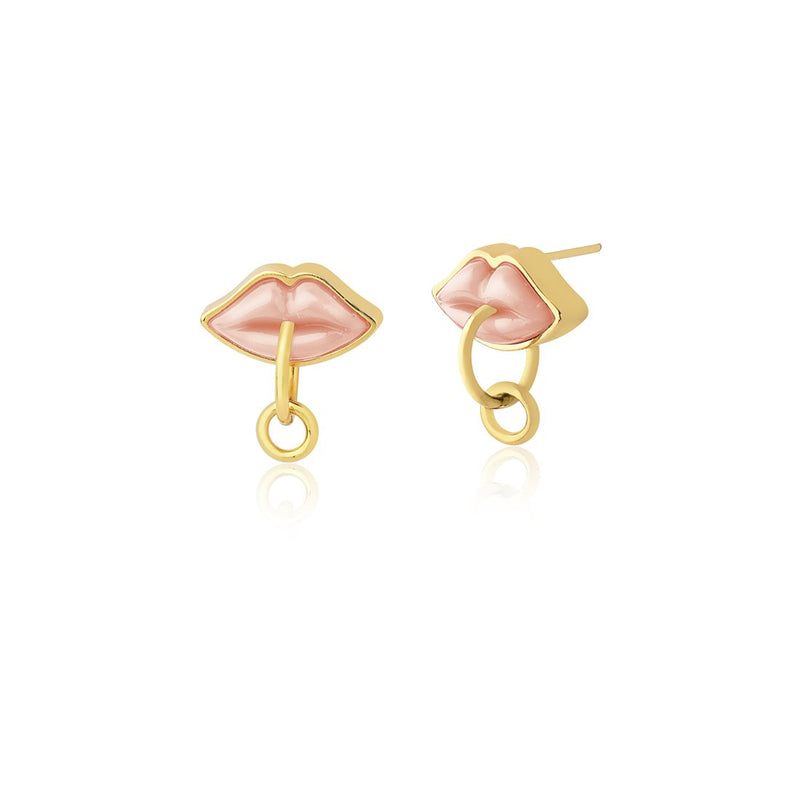 SMALL KISS EARRING - PINK - KISS ME