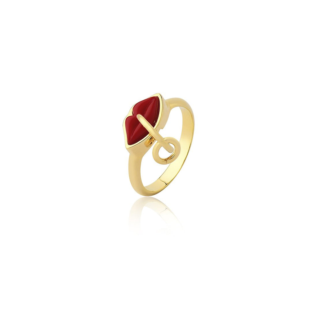 SMALL KISS RING - RED - KISS ME