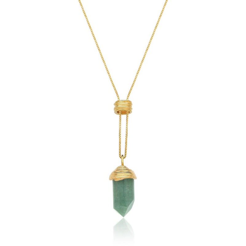 ESSENCE NECKLACE - QUARTZO VERDE - ICONE