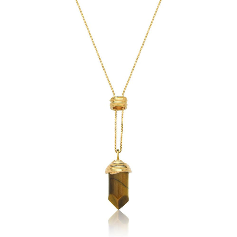ESSENCE NECKLACE - OLHO DE TIGRE - ORIGENS