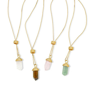 ESSENCE NECKLACE - QUARTZO ROSA - ICONE