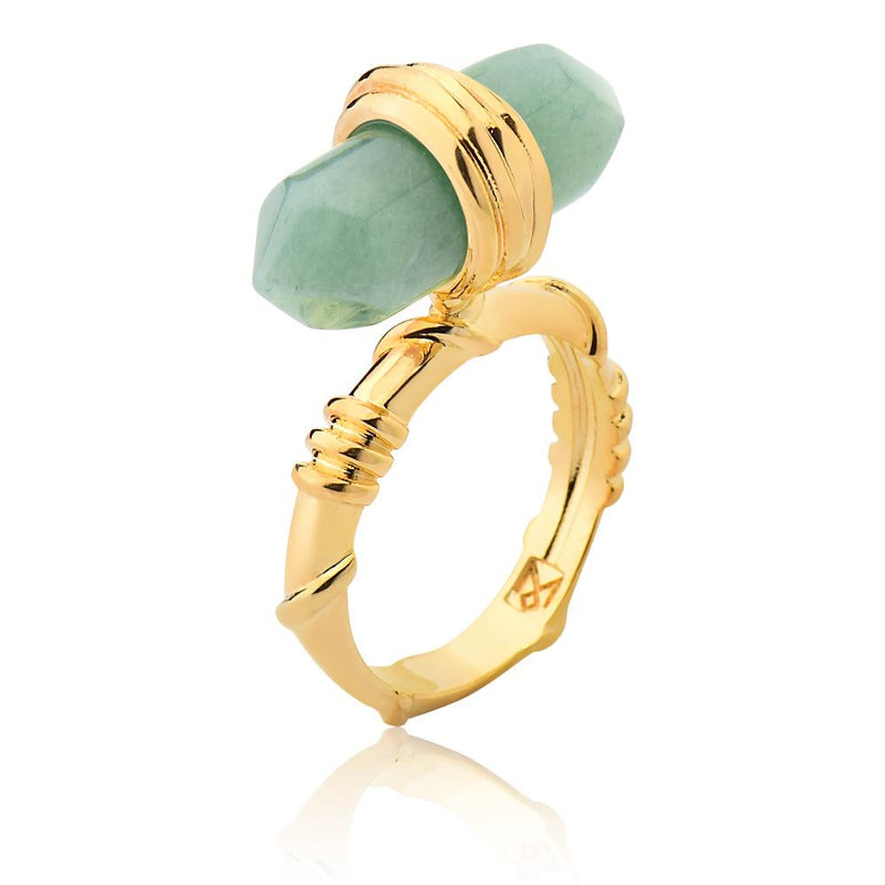 ESSENCE RING - GREEN QUARTZ - ORIGENS