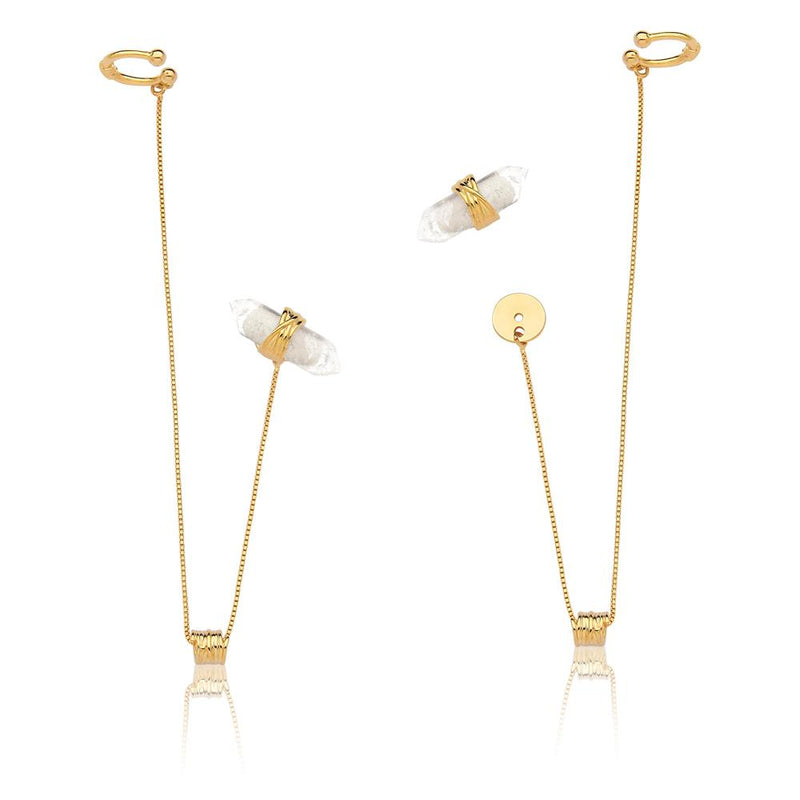 PARADISE EARRING - CRYSTAL - ICONE