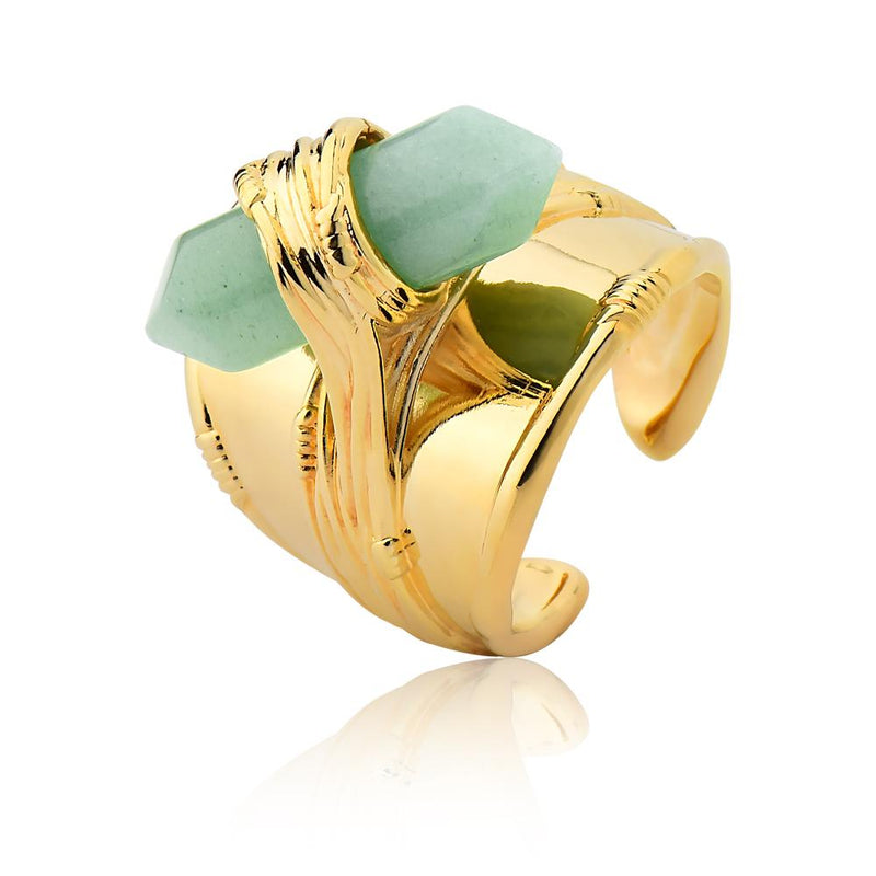 VINTAGE RING - GREEN QUARTZ - ORIGENS