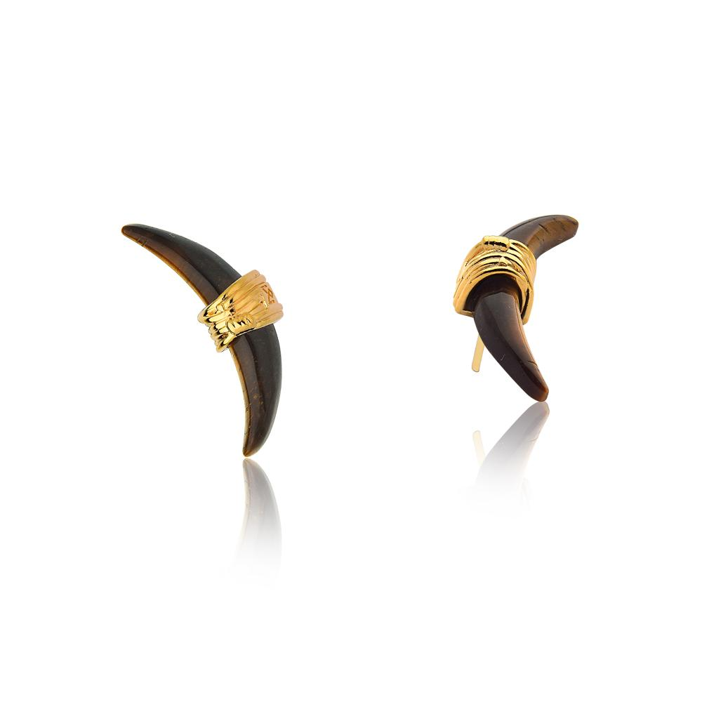 VINTAGE EARRING - TIGER EYE - ORIGENS