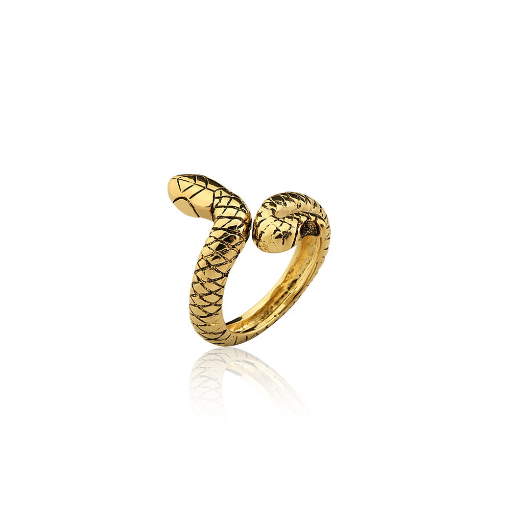 ANEL LITTLE SNAKE - OURO 18K - ANIMAL
