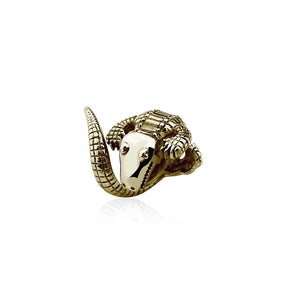 ANEL LITTLE CROCO - OURO 18K - ANIMAL