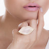KISS ME RING - WHITE AGATE - KISS ME