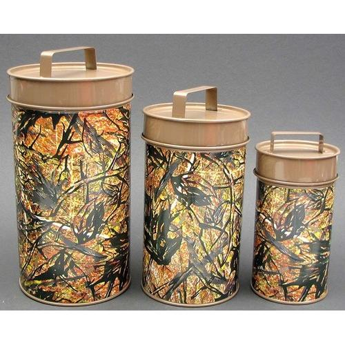 Metal Camouflage 3 Cannister Set - Kitchen Shop Deals