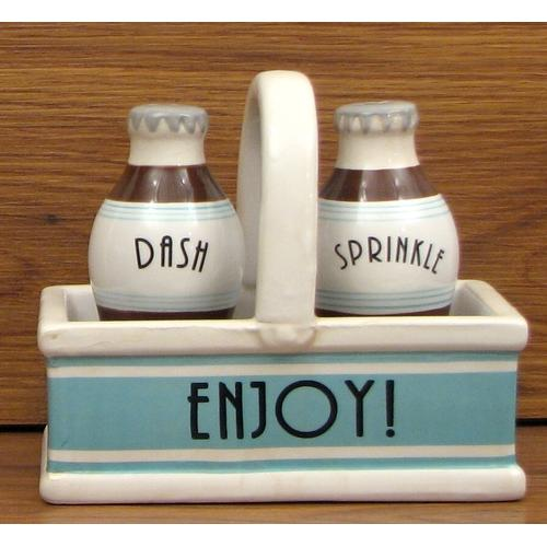 Ceramic Salt/Pepper in Tray - Kitchen Shop Deals