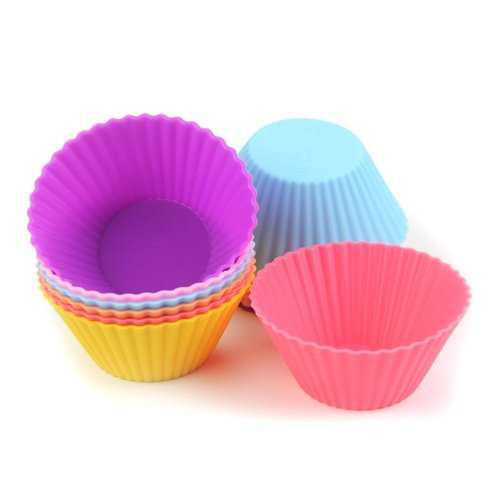 12 Pieces Silicone Cake Cups Set Baking Mold Muffin Baking Nonstick and Heat Resistant Reusable Silicone Cake Molds - Kitchen Shop Deals