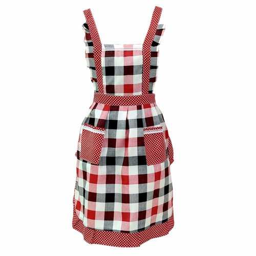 Honana Women Lady Kitchen Apron Dress Restaurant Home Kitchen For Pocket Cooking Funny Cotton Apron Bib Dining Room Barbecue - Kitchen Shop Deals