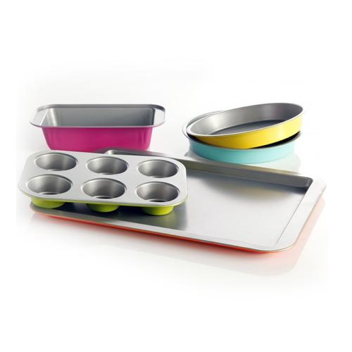 Gibson Home Color Splash Lyneham 5 pc Carbon Steel Bakeware Set - Kitchen Shop Deals