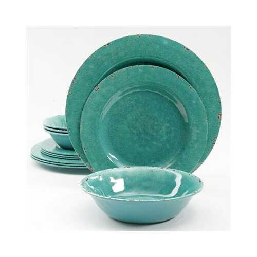 Sc Mauna Melamn Dw Green 12pc - Kitchen Shop Deals