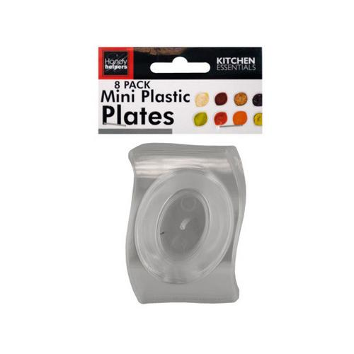 Clear Mini Plastic Plates Set ( Case of 12 ) - Kitchen Shop Deals