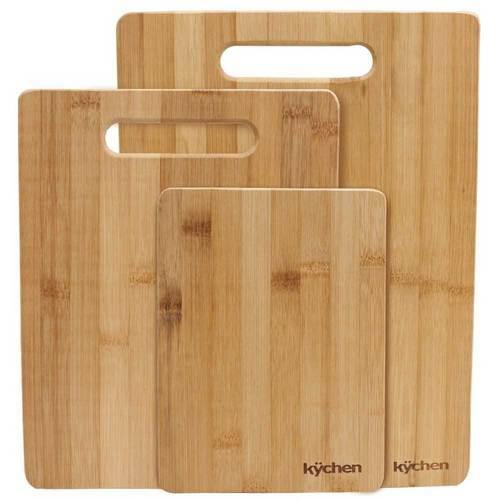 Natural Bamboo 3 Piece Cutting Board Set - Kitchen Shop Deals