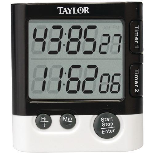 Taylor Dual Event Digital Timer And Clock (pack of 1 Ea) - Kitchen Shop Deals