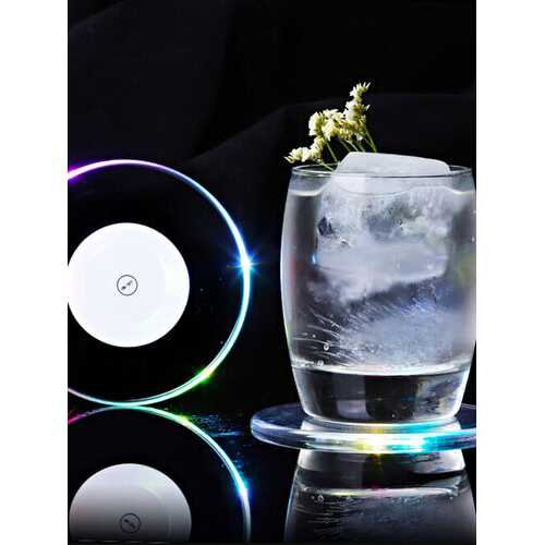 LED Light Color Change Drink Cup Holder Mat - Kitchen Shop Deals