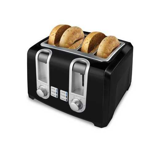 Bd 4 Slice Toaster 4 Slot Blk - Kitchen Shop Deals