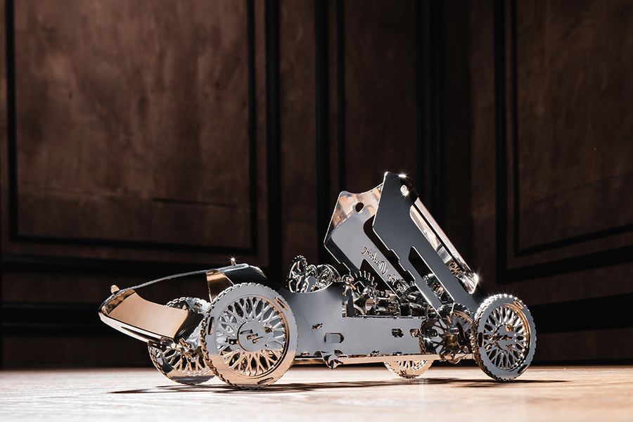 Silver Bullet. Model of a car for self-assembly