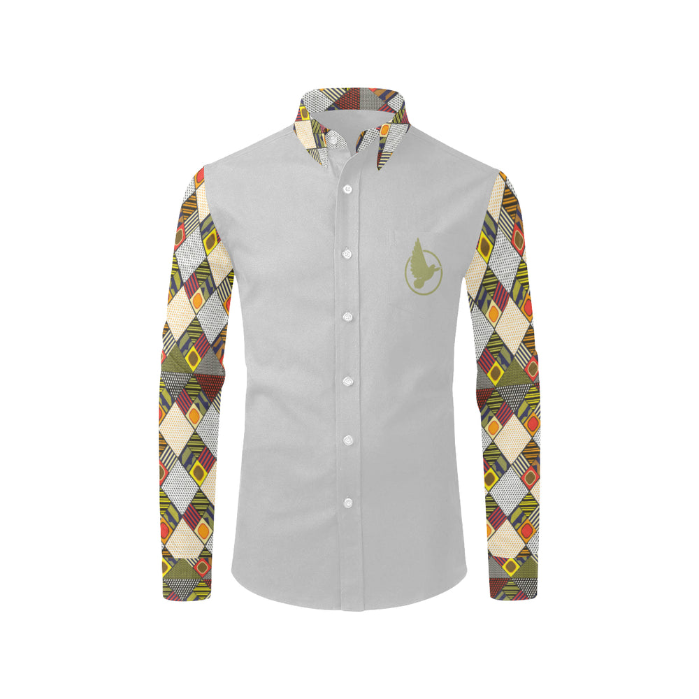 Afro Print Button Down