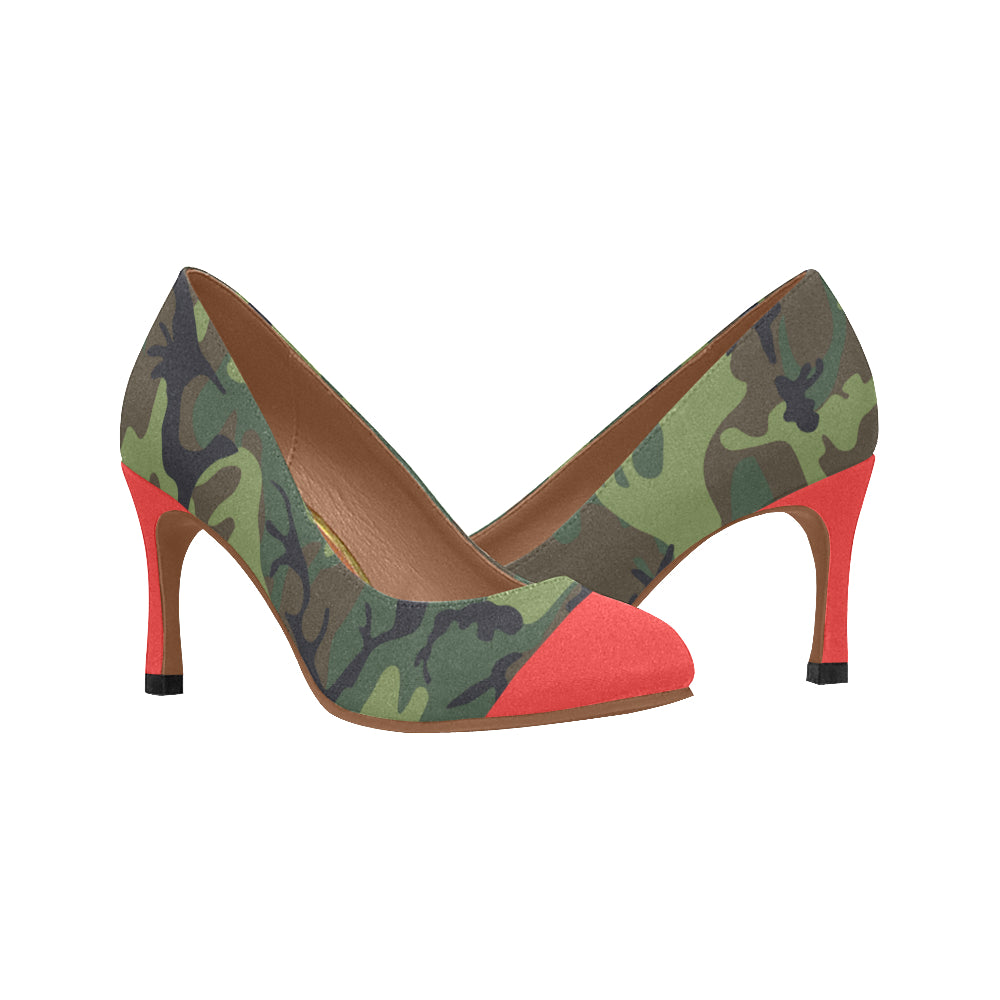 Camo Red Toe Pump