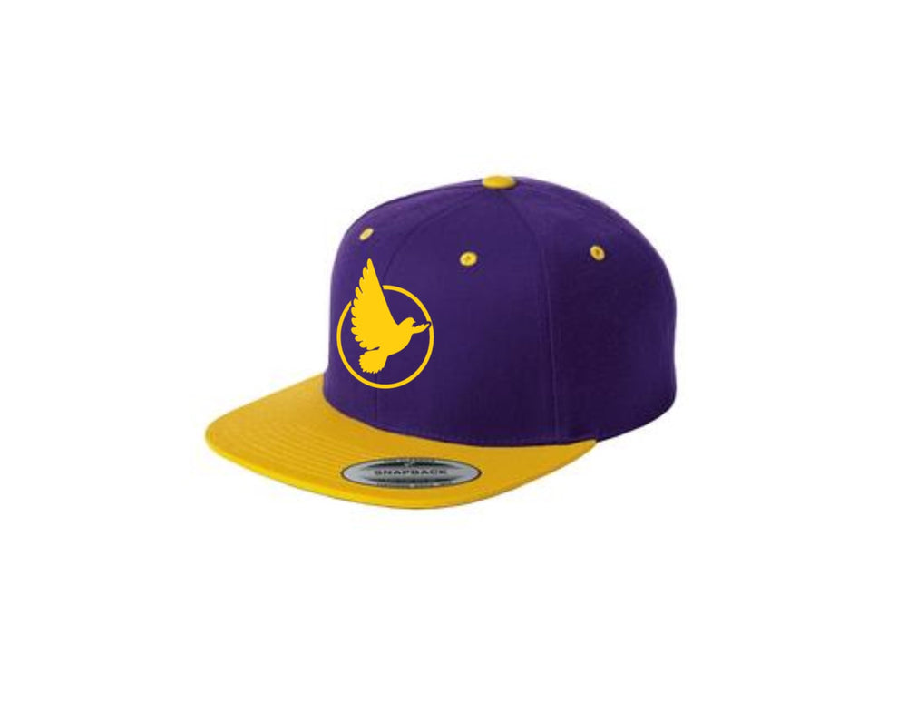 purple and gold dove hat.jpg