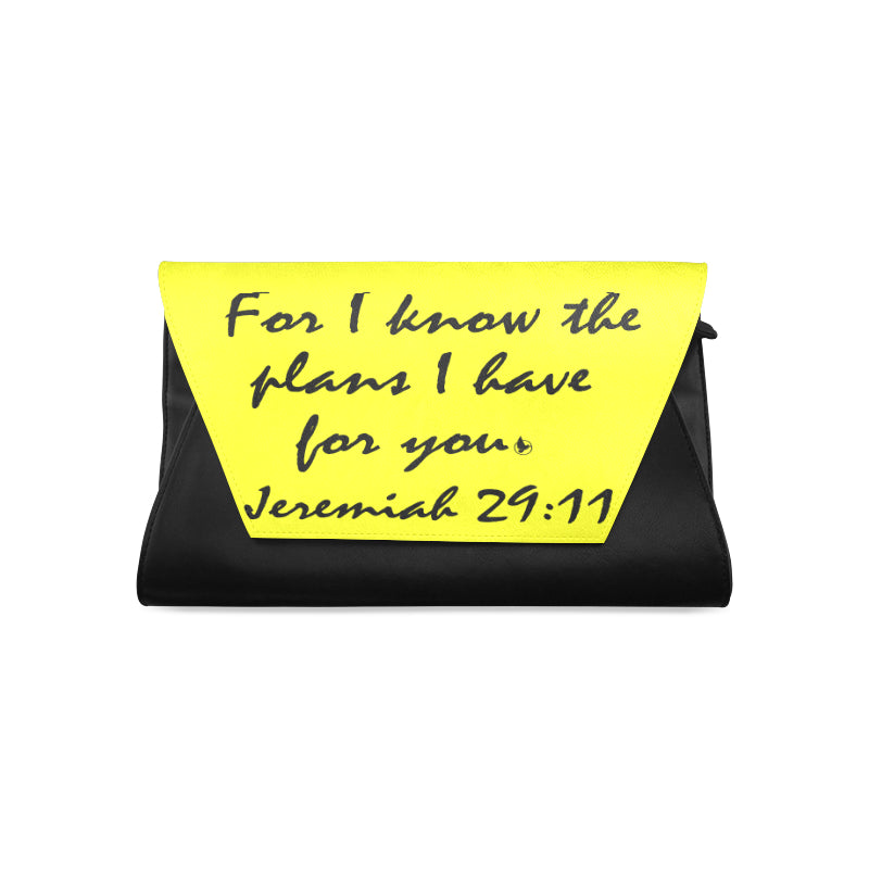 Jeremiah 29.11 black yellow clutch.jpg