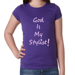 Girl's God is My Stylist tee