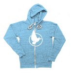 Triblend Dove Fleece Zip Hoodie