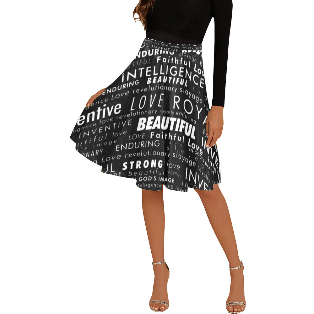 """My Black Is"" Midi Skirt"