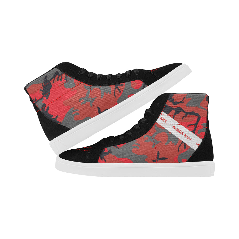 No Robots Camo Red Men's Hightops