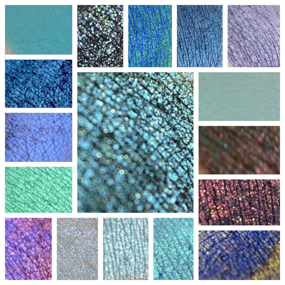 BLUE - eyeshadow SAMPLES