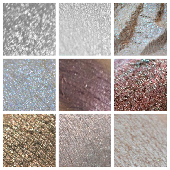 GRAY & WHITE - eyeshadow SAMPLES