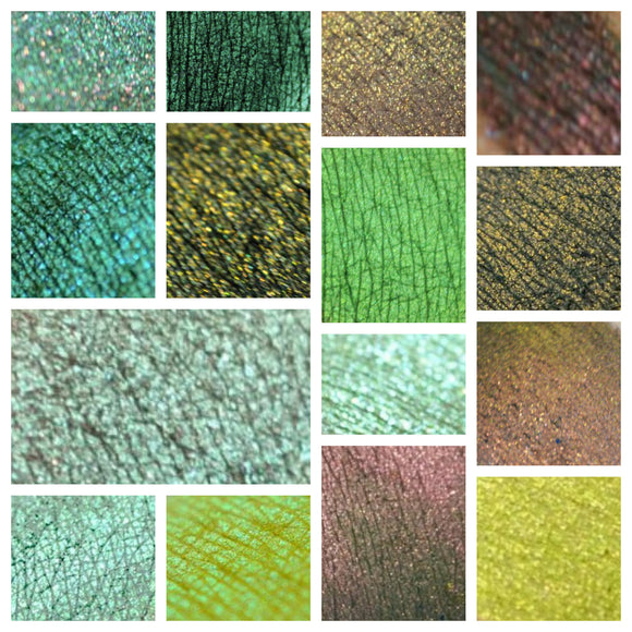 GREEN - eyeshadow SAMPLES