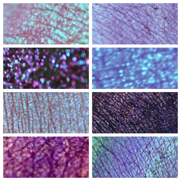 PURPLES - eyeshadow SAMPLES