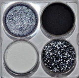 """Monochrome"" pressed Eyeshadow SAMPLE Palette"