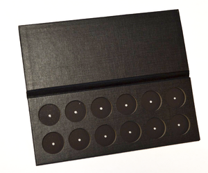 EMPTY 26mm magnetic palette - 12 pan - BLACK