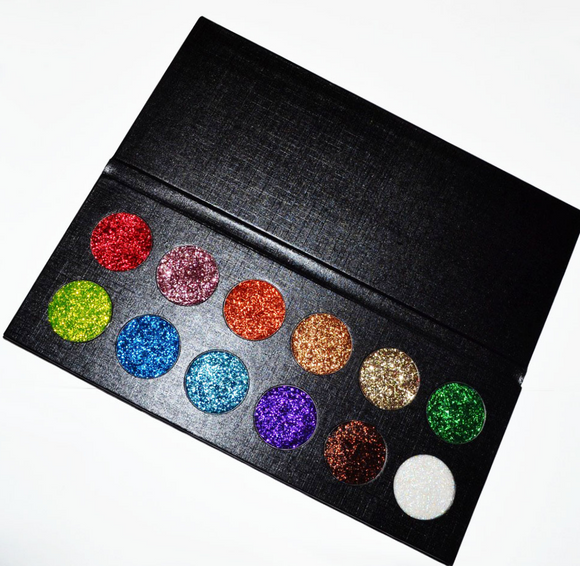 DELUXE Custom pressed GLITTER / highlighter//Eyeshadow Palette