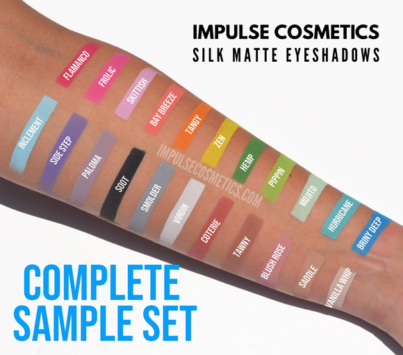 Silk Matte Eyeshadows - complete SAMPLE set