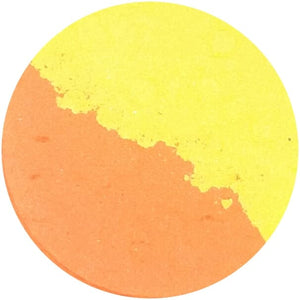 TANGY / ZEN (split pan) - Pressed Eyeshadow - matte orange and yellow