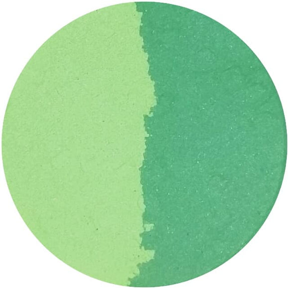 HEMP / PIPPIN (split pan) - Pressed Eyeshadow - matte green and lime
