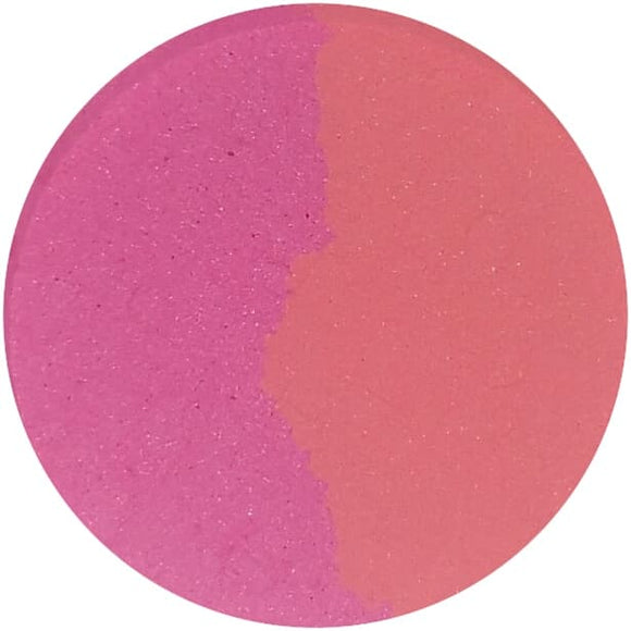 FROLIC / BAY BREEZE (split pan) - Pressed Eyeshadow - matte bright pink and coral