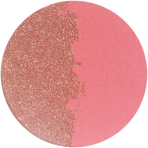 LONG ISLAND / BAY BREEZE (split pan) - Pressed Eyeshadow - matte coral & metallic/iridescent peach