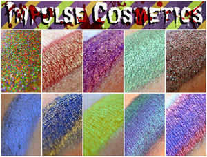 """HORROR SHOW"" Eyeshadow Collection - 10 shades FULLSIZE (halloween '13)"