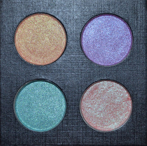 FLOWER CHILD pressed duochrome Highlighter/Eyeshadow Palette