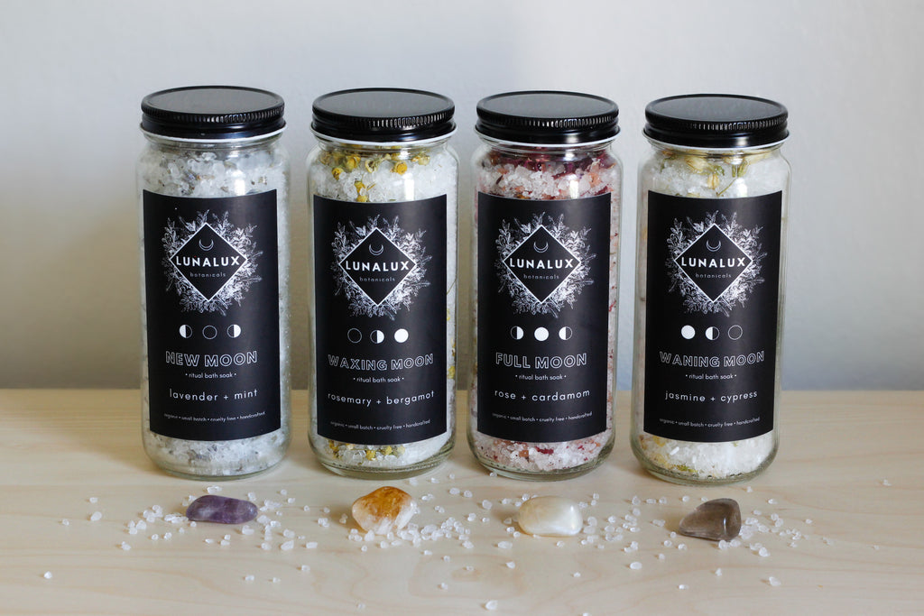 lunar cycle ritual bath soak set
