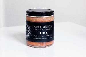 FULL MOON // Rose + Cardamom Sugar Scrub